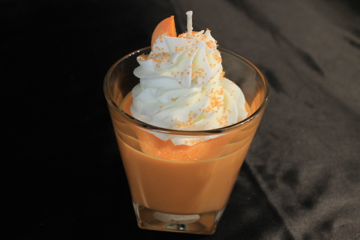 Orange Creamsicle Scented, Ice Cream Float Soy Wax Candle