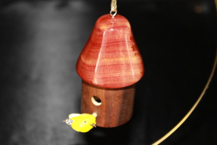Black Walnut & Cedar Woods Miniature Bird House